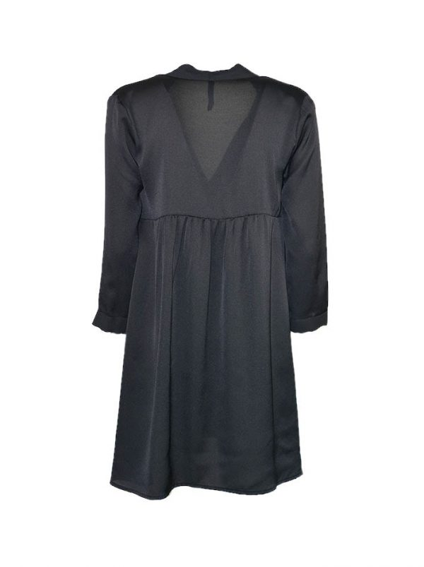Платье-туника Imperial черное с вырезом