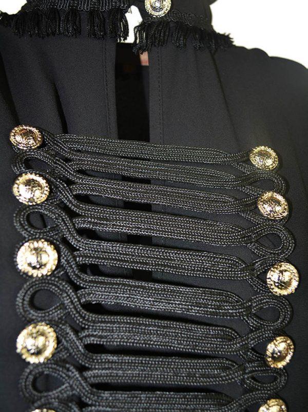 Платье Babylon с длинным рукавом и золотыми пуговицами