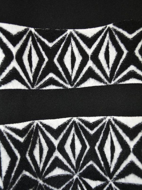 Платье D. Exterior черное из плотного трикотажа по низу черно-белый рисунок