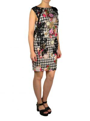 Платье Eureka с принтом и кружевом по талии