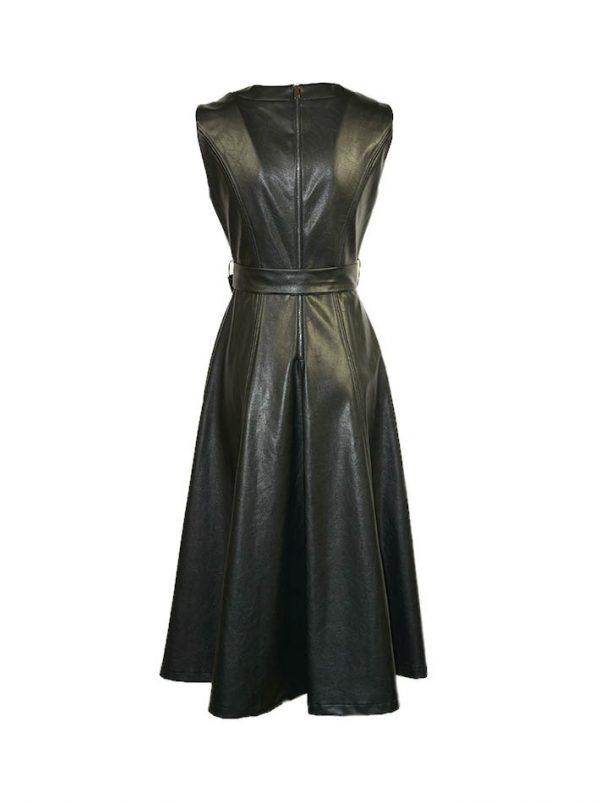 Платье Imperial эко кожа длинное с вырезом