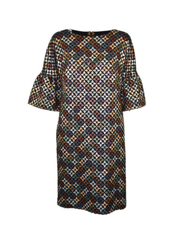 Платье Maria Grazia Severi с набивным цветным принтом