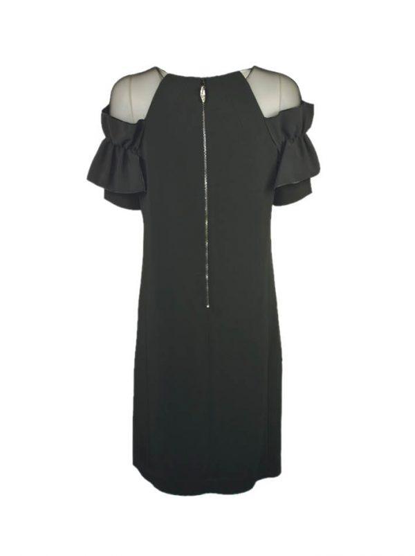 Платье Maria Grazia Severi черное верх сетка с воланом