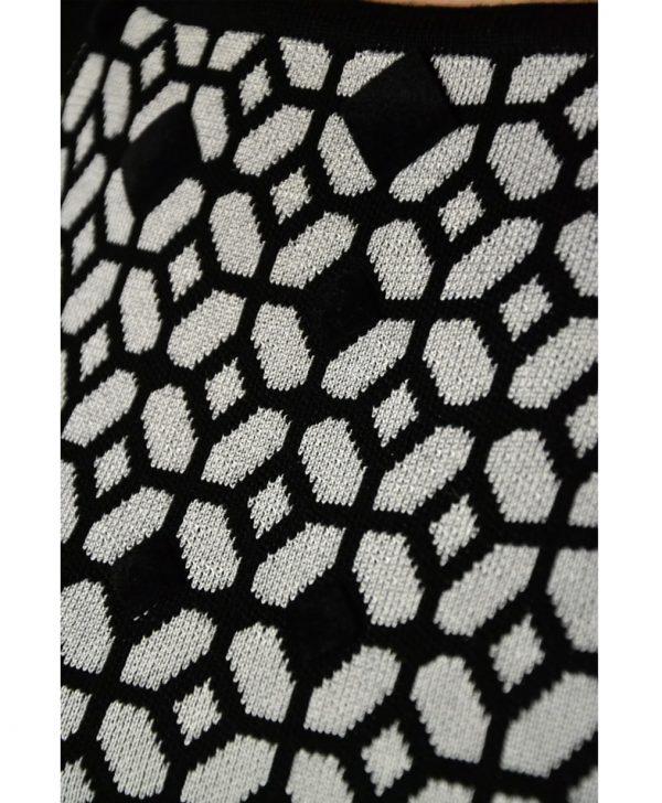 Платье Maria Grazia Severi (22 Maggio) черно-белое отрез по талии