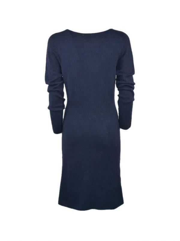 Платье Suerte синее шерстяное с плетением