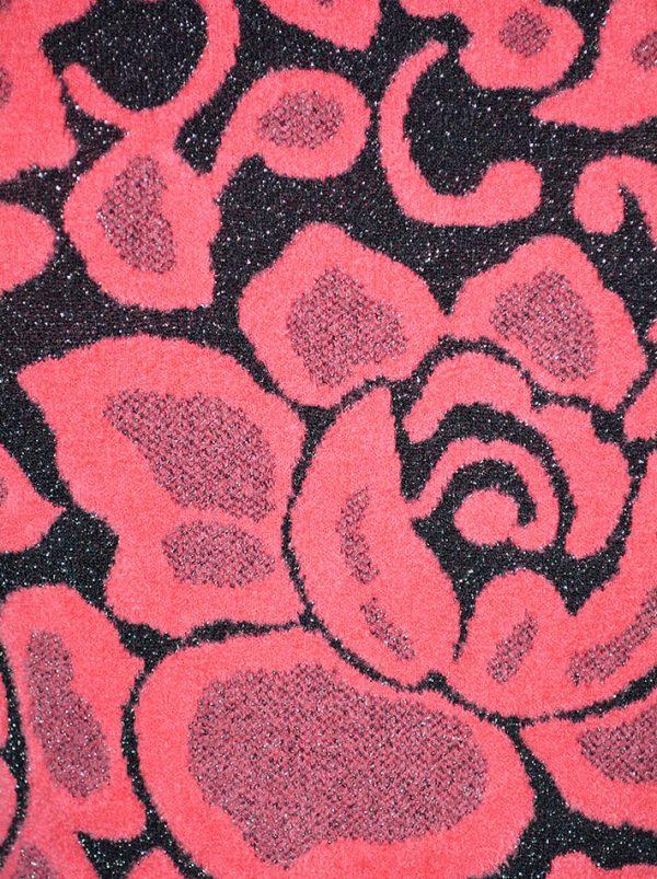Платье VDP черно-розовое с люрексом