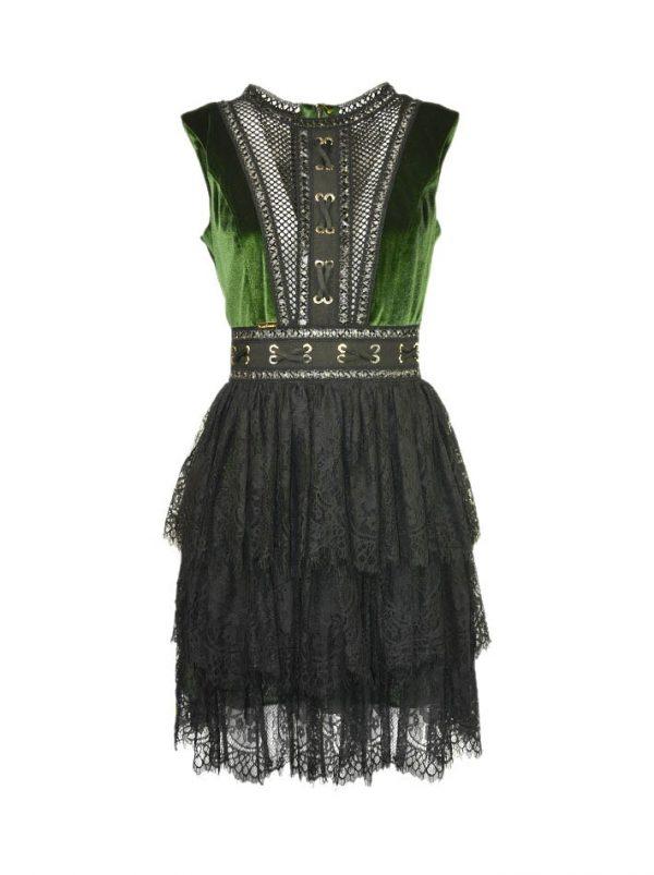 Платье W Les Femmes с гипюровой отделкой