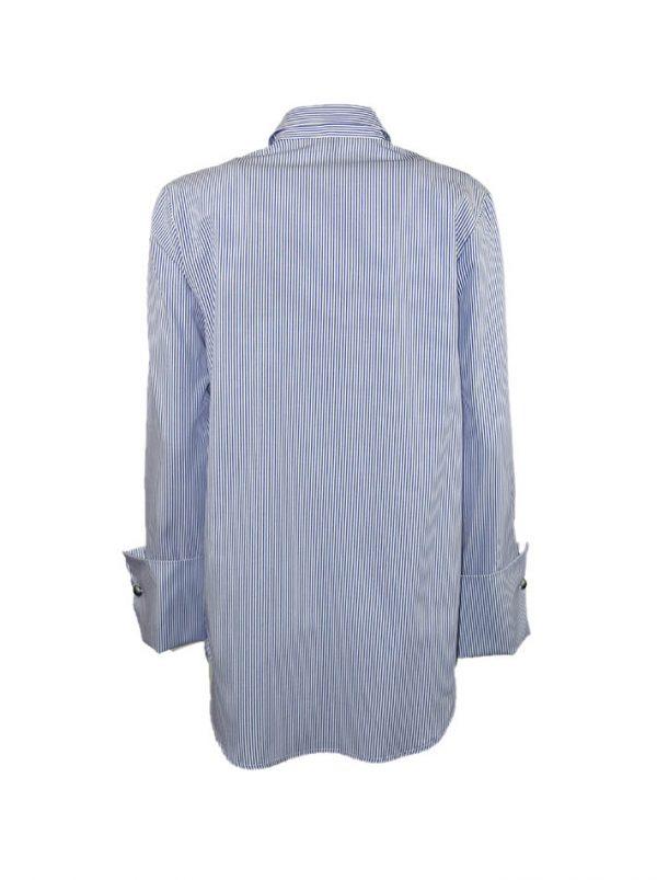 Рубашка Imperial белая в голую полоску с манжетами и запонками