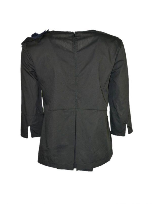 Рубашка Imperial хлопковая с сине-черным цветком