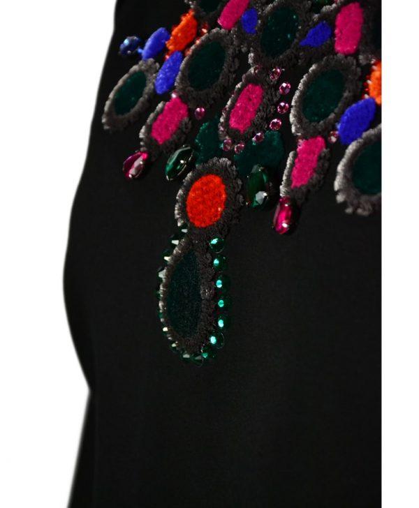 Толстовка VDP черная с вышивкой и камнями