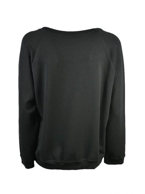 Толстовка VDP черная с вышивкой с пайетками