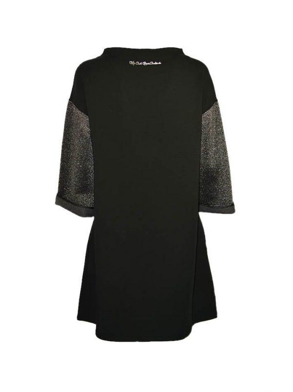 Туника VDP черная с люрексом вышивкой и пайетками