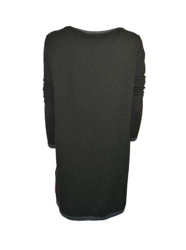 Туника VDP черная трикотажная комбинированная с шелком