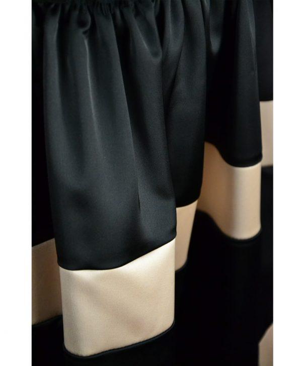 Юбка Imperial черная с бежевыми полосками на резинке