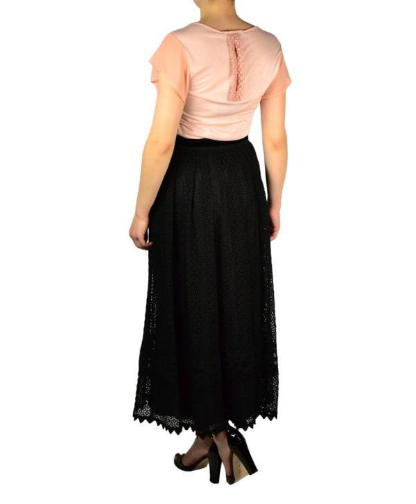 Юбка Maria Grazia Severi кружевная с поясом из велюра