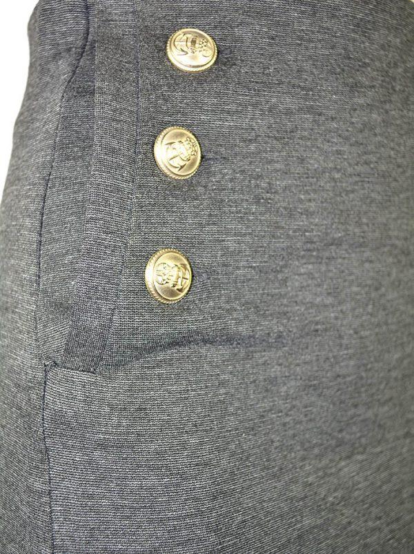 Юбка Vicolo карандаш серая двубортные карманы с золотыми пуговицами