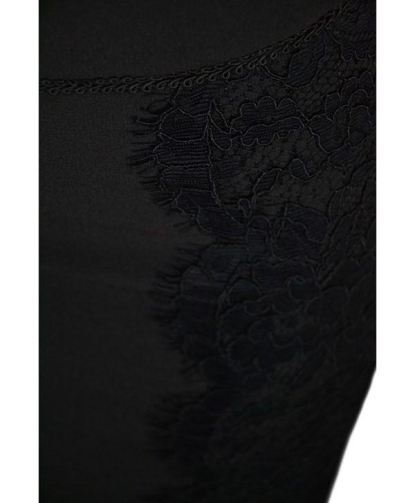 Юбка W Les Femmes черная классическая с кружевом