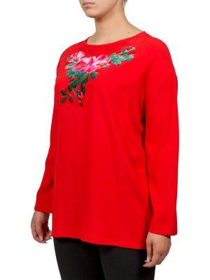 Блуза VDP красная с вышивкой