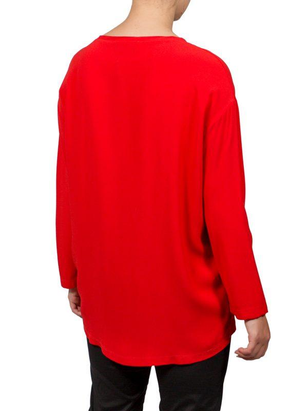 Кофта VDP красная с вышивкой