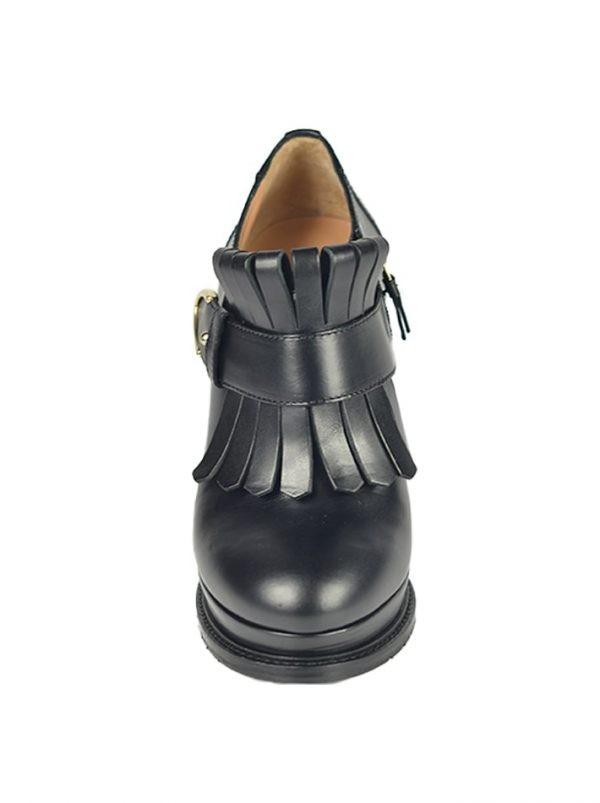 Ботинки Twin-Set черные с бахромой