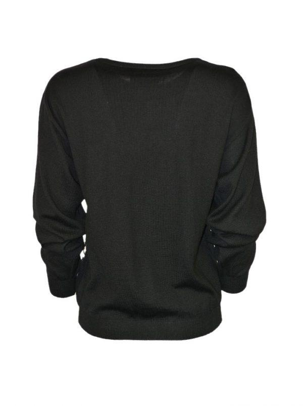 Джемпер Boutique Moschino черный с принтом