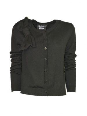 Кардиган Boutique Moschino черный с бантом на плече