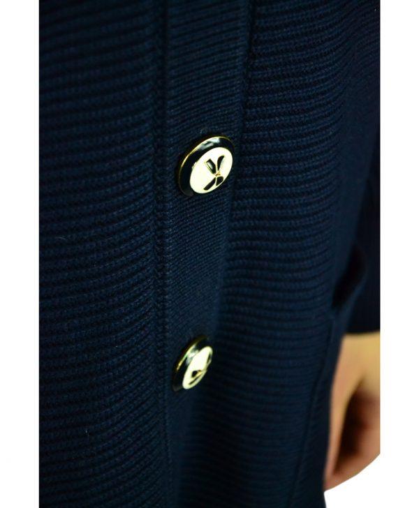 Кардиган Red Valentino темно-синий вязаный на пуговицах