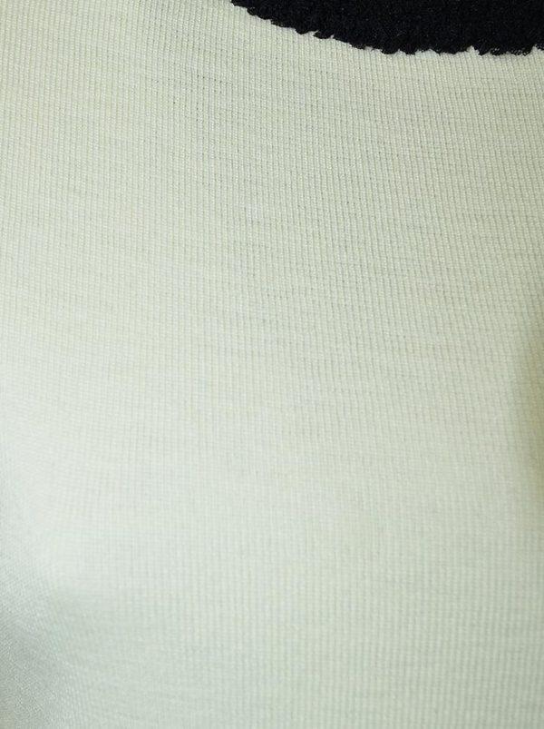 Кофта Boutique Moschino белая с черной окантовкой