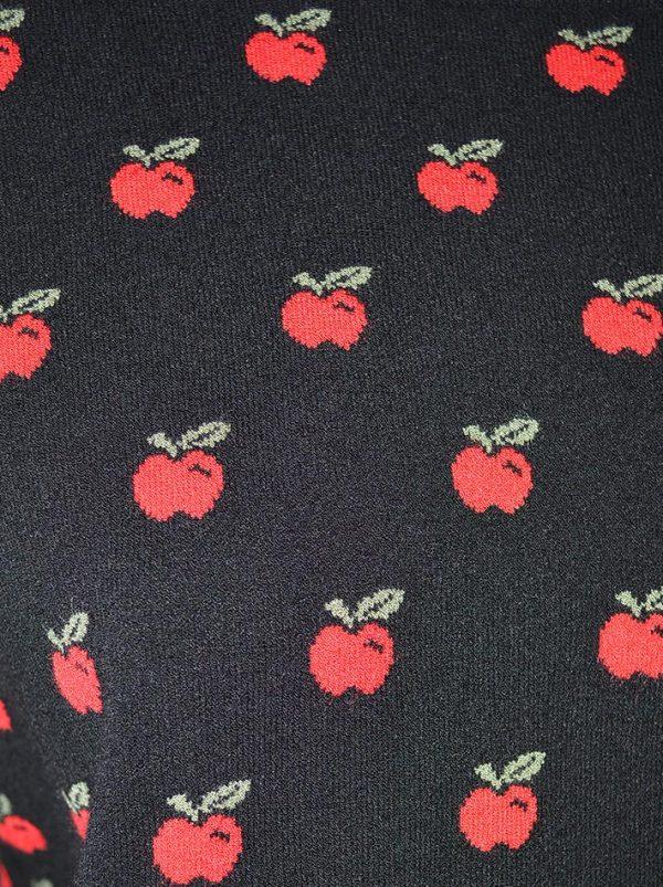 Кофта Red Valentino черная с принтом