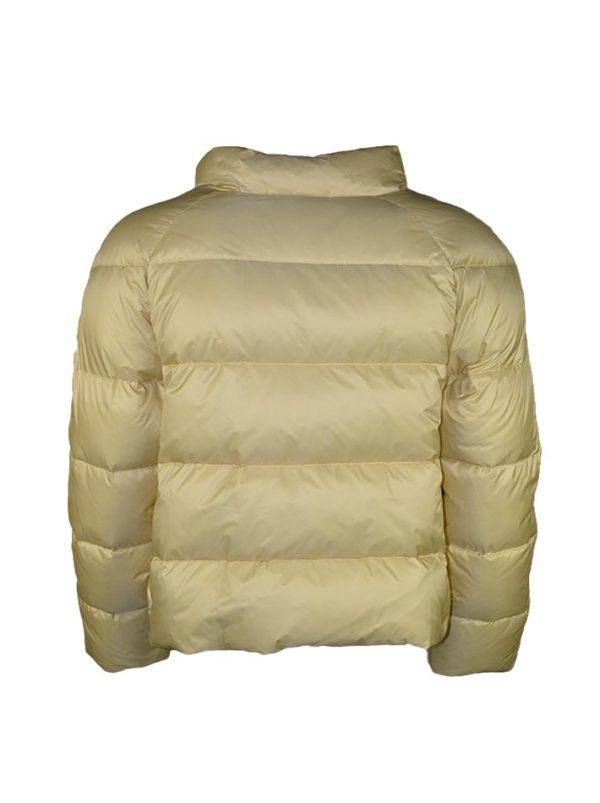 Куртка Chiara D'este молочная с меховой отделкой и камнями