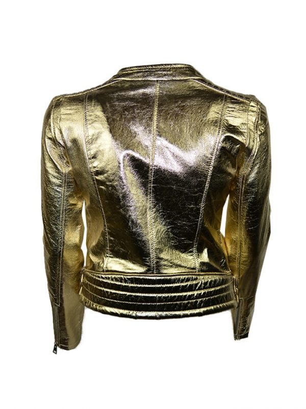 Куртка Imperial кожаная золотая