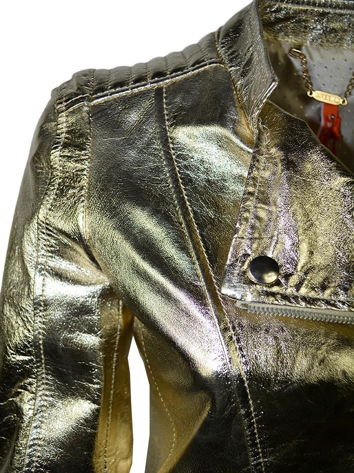 40e45e09ae5b Куртка Imperial кожаная золотая - цена 10800 рублей, арт ...