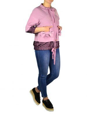 Куртка Red Valentino розовая с бантами на карманах и завязками