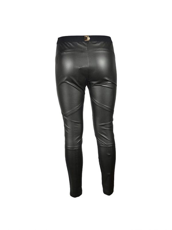 Брюки-лосины Chiara D'este черные кожаные