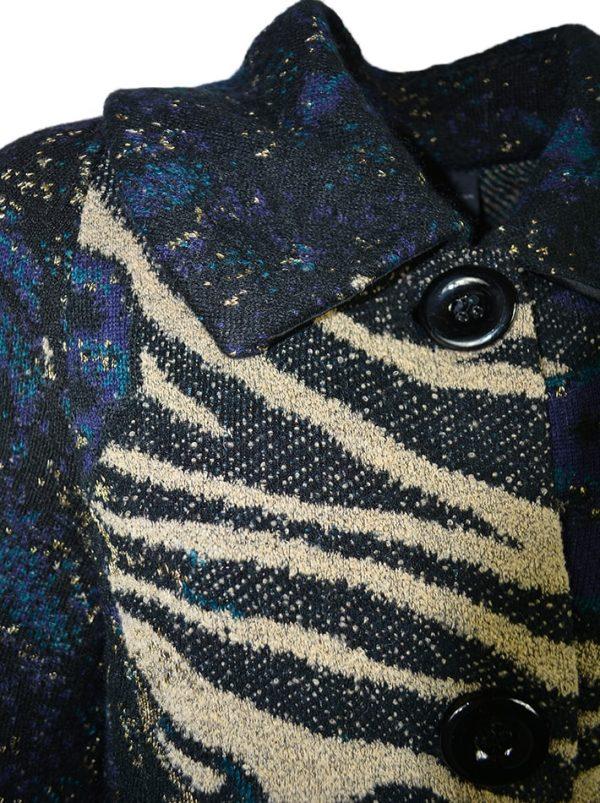 Пальто Didier Parakian черное с принтом