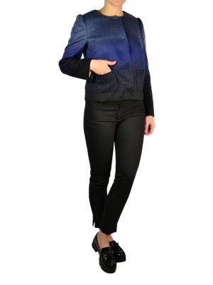 Пиджак Red Valentino синий градиент шерстяной с карманами