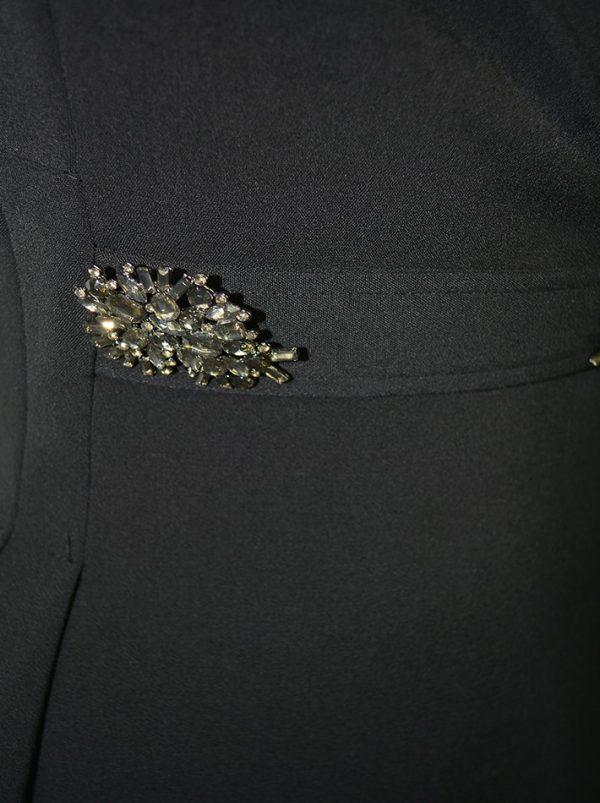 Платье Babylon черное с брошами на поясе