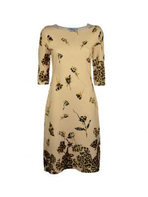 Платье Blumarine бежевое с леопардовым принтом