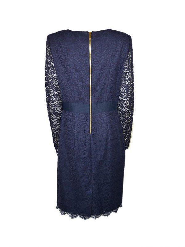 Платье Blumarine синее гипюровое с шелковым подкладом