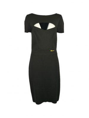 Платье Blumarine черное с вырезом на груди