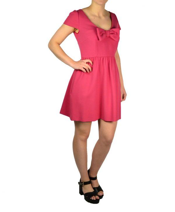 Платье Red Valentino розовое с бантом