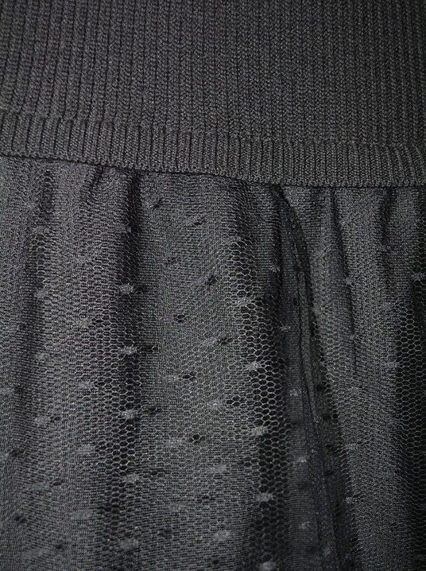 Платье Red Valentino черное вязаное низ сетка