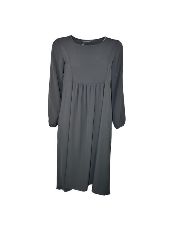 Платье Sandro Ferrone серое шифон
