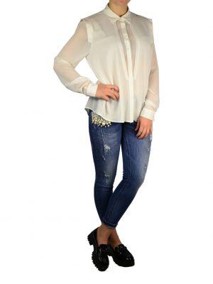Рубашка Paolo Casalini белая на пуговицах