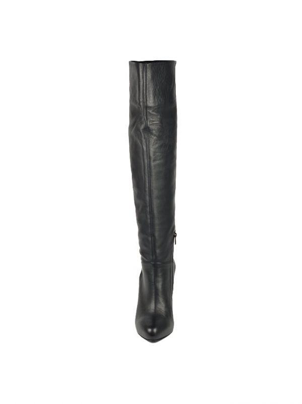 Сапоги Le Silla черные кожаные на каблуке