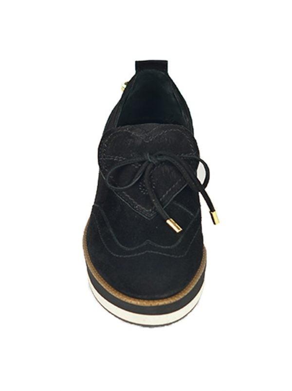 Слипоны Moschino черные замшевые