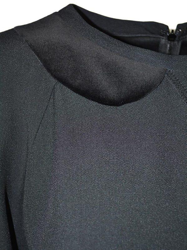 Туника Red Valentino черная с имитацией ворота велюр