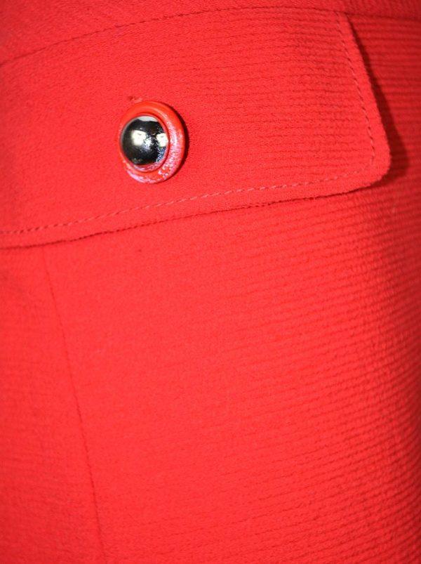 Юбка Moschino красная с имитацией карманов