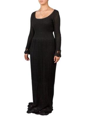 Платье Alberta Ferretti черное вязаное