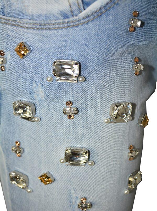 Джинсы Imperial светло-голубые с камнями